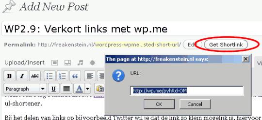 wp.me shortlink